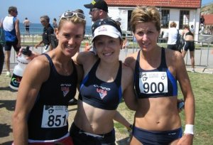2005 World Championships - Newcastle, Australia - Connie Sullivan, Me, Kerri Robbins