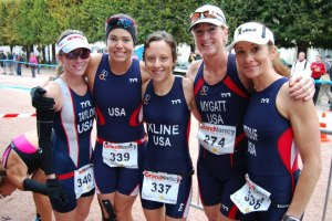 2012 World Championships - Nancy, France - Lisa Taylor, Julia Purrington, me, Kim Mtgatt, Gail Kattouf