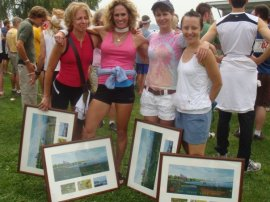 2009 Great Race - Bad Kitty and the Cougars - Tamara Tarbell, Caryle Zipprich, Amy Kneale (aka Bad Kitty), me