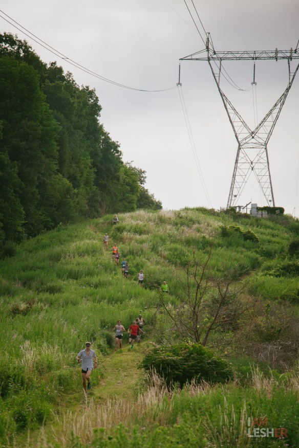 Power line hill on the way down. Photo credit: Michael Lesher